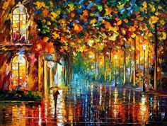 Late Stroll Miami ARTISTIC SIGNED PRINT by AfremovArtStudio