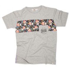TMRT franja con flores - Gris