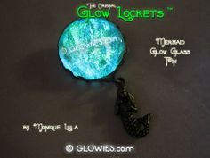Glow in the dark sparkly mermaid seafoam brooch by Monique Lula for Glowies.com