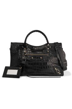 Black croc-effect leather (Calf) Two-way zip fastening along top Comes with dust bag Weighs approximately 3.3lbs/ 1.5kg Made in Italy