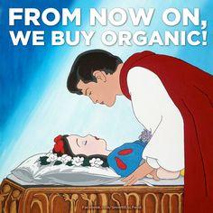 Snow White #Organic #Apples #Garden #Humor #Funny http://www.facebook.com/GrowREALFood