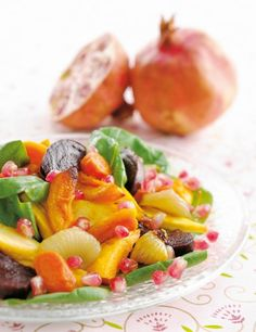 Pomegranate and roasted root salad