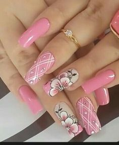 What manicure for what kind of nails? - My Nails Pink Nail Art, Pink Nails, My Nails, Fancy Nails, Trendy Nails, Cute Nails, Beautiful Nail Designs, Beautiful Nail Art, Beautiful Beautiful