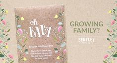 GROWING FAMILY?    Celebrate your new addition by giving your baby shower guests a bouquet wildflower mix to bloom.   Every Bentley packet is made with 70% post-consumer recycled content paper and soy based inks and contains non-GMO, Heirloom seeds.   Plus, you can enjoy same day shipping when you order by 3pm EST Monday-Friday.   Need a quote?