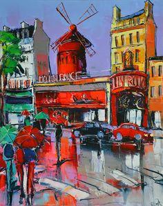 Eric Le Pape, Le Moulin Rouge, 30F 92x73 cm