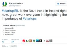 #startupIRL is the No.1 trend in Ireland right now, great work everyone in highlighting the importance of #startups