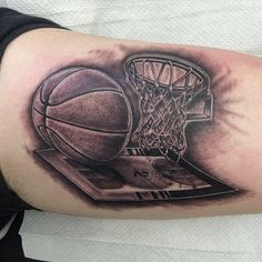 40+ Sporty types of Basketball Tattoo Designs - Famous Celebs Check more at http://tattoo-journal.com/40-sporty-images-of-basketball-tattoos/