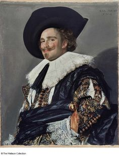 """The Laughing Cavalier is a portrait by the Dutch Golden Age painter Frans Hals in the Wallace Collection in London, which has been described as """"one of the most brilliant of all Baroque portraits"""". Johannes Vermeer, Rembrandt, Baroque Painting, Baroque Art, Renaissance, Art Du Temps, James Abbott Mcneill Whistler, Famous Portraits, Male Portraits"""
