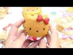 cute Hello Kitty yellow cream pancake squishy charm cellphone charm  - Food Squishies - Squishies - kawaii shop modeS4u