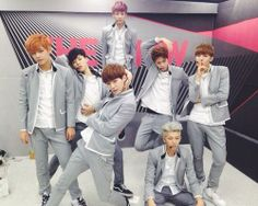 Kookie is being abducted, rapmon is meditating and the rest are A+ model posing. Wow bangtan, wow