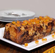 Pudding au chocolat et à l'orange confite (sans oeuf-sans beurre)