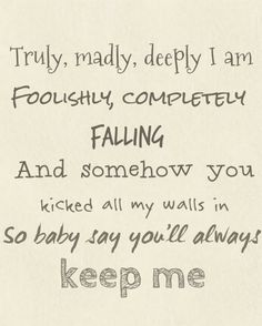 Truly Madly Deeply - One Direction IM MAD!!! I CAN'T BUY THIS SONG MAGIC OR IRRESISTIBLE ON ITUNES!!!!!!!! :'(