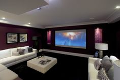 Burleigh Home Theatre by Oakbridge Homes