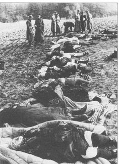 Murdered children of Nemmersdorf, as German soldiers found them after the re-conquering in Autumn 1944 (German Federal Archives).