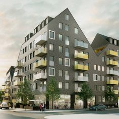 Årstafältet, residential block in Stockholm, Sweden   Semrén & Månsson