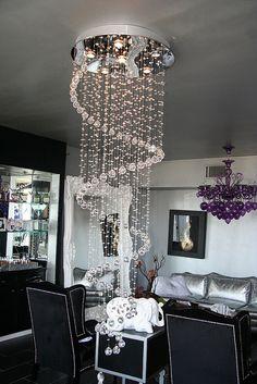 Crystal spiral chandelier by Diva Rocker Glam (424) 245 4503, via Flickr