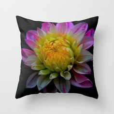 #pink #dahlia #pretty #flowers #floral #pillows Available in different #homedecor #society6 products too.