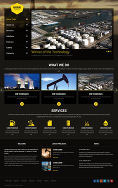 Gas and Oil HTML Template by Dynamic Template