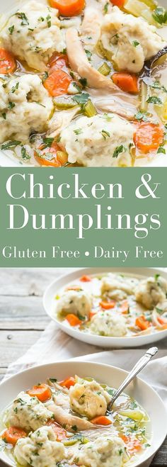 Gluten Free Chicken and Dumplings, its wonderful comfort food and makes an easy weeknight supper! | dairy free| http://noshtastic.com (Fall Gluten Free Recipes)