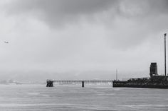 Container Pier - ...as seen from Crab Park on a wet, wet morning.