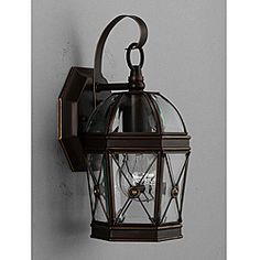 @Overstock - Bring light to your outdoor space with this stunning outdoor light fixture. A hand-painted bronze finish with clear beveled glass completes the design of this outdoor wall light fixture.http://www.overstock.com/Home-Garden/Hand-painted-Bronze-1-light-Outdoor-Wall-Light/6581170/product.html?CID=214117 $45.99