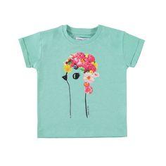 "tshirt KM ""flower bird"" - tshirt KM ""flower bird"" - T-SHIRTS - Filou - Filou & Friends"