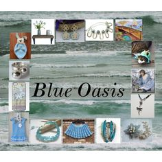 Blue Oasis: Stunning Gifts for Her by paulinemcewen on Polyvore featuring Shell Rummel, rustic and vintage