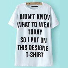 19,90EUR T-Shirt weiss mit schwarzer Schrift