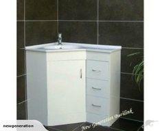 Corner vanity - 600 x 900mm white gloss   Trade Me
