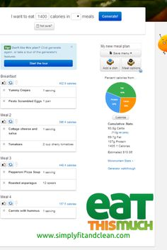 Automatic meal planner, Eat This Much, makes healthy choices easy! | Simply Fit & Clean