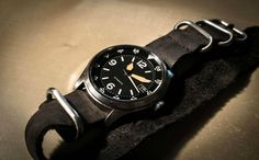Yobokies modded Seiko 5 with Worn & Wound leather strap