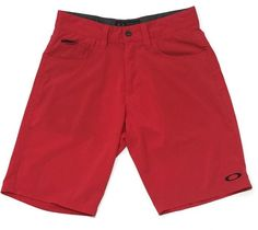 Oakley Shorts 30 Red Stretch Golf Lightweight  Athletic Flat Front Casual  | eBay