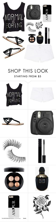 """Normal is boring"" by southern-mom ❤ liked on Polyvore featuring J Brand, Sole Society, Fujifilm, Trish McEvoy, Gucci, MAC Cosmetics, Alexander McQueen, Forever 21, Summer and ootd"