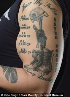 for my fallen soldiers military tattoos   military