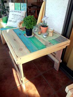 #Table - Pallet Furniture for Balcony / Garden / Terrace | 99 Pallets