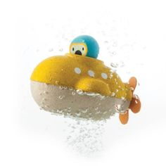 Submarine Bath Toy by Plan Toys Yellow submarine wooden bath toy by Plan Toys. Use the rubber propeller to dive deep and discover the underwater world. Encouraging imaginative play this wooden bath toy also comes with a little explorer. Water Toys, Water Play, Bath Water, Yellow Submarine, Wooden Bath, Wooden Toys, Plan Toys, Underwater World, Imaginative Play