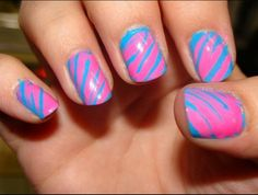 Pink and blue. Easy!