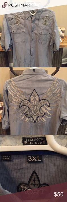 Strength Refined - Roar - Long Sleeve Dress Shirt Strength Refined - Roar - 3XL - Men's Dress Shirt - excellent condition Roar Shirts Dress Shirts