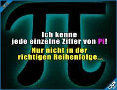 Ich bin so klug! :P #Pi #Mathe #Witz #Witze #lustig #Sprüche #Humor #lustigeSprüche #Jodel #WhatsAppSprüche #Statussprüche