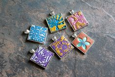 POLYMER CLAY TILE PENDANTS | by earthexpressions