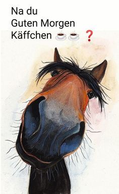 caballos - Guten Morgen - Home Horse Drawings, Animal Drawings, Cute Drawings, Horse Cartoon Drawing, Drawing Animals, Painted Horses, Art Fantaisiste, Horse Wall Art, Cute Horses