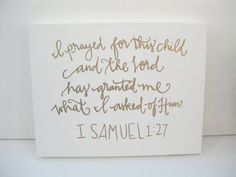 Bible verse on canvas by BeanstalkLoft on Etsy