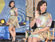 6c5f8c981 Demi Lovato In Ted Baker London - Good Morning America - Red Carpet Fashion  Awards