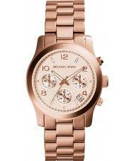 Ladies Michael Kors Ladies Runaway Rose Gold Chronograph Watch 139.00 Watches2U