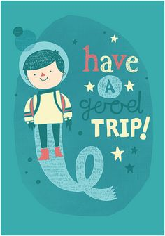 Items similar to Have a Good Trip - Illustration and hand drawn lettering print - SALE on Etsy Character Illustration, Digital Illustration, Kids Graphics, Say Hello, Pretty Pictures, Illustrations Posters, Retro, Hand Lettering, Cool Art