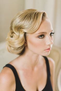 vintage classic wedding hair updo