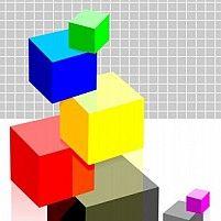 Illustration of different colour cubes