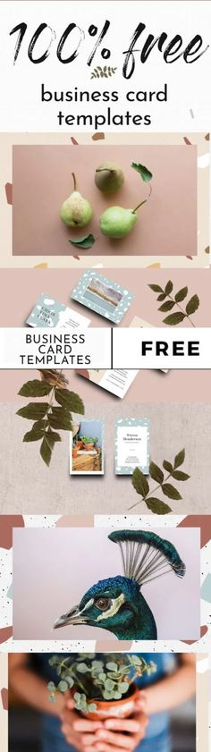 visual stories | Free Terrazzo Business Card Templates // Visual Stories