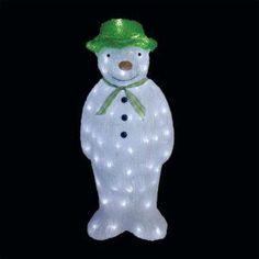 The Snowman Acrylic Light Up Christmas Figure 55cm