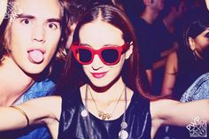 """Beatrice Papa wearing """"Punks Wear Prada"""" x Spektre at the PWP launch party of its capsule collection!"""